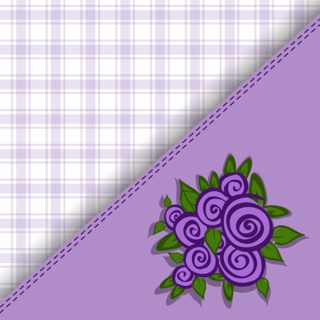 beautiful purple asymmetric background with roses Vector