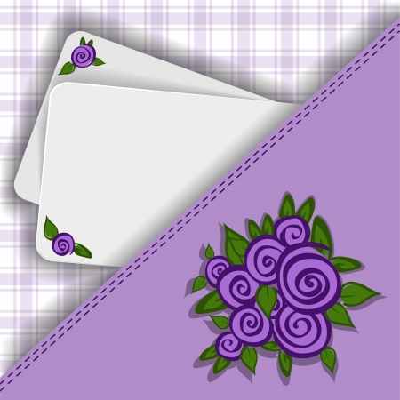 asymmetric: beautiful purple asymmetric background with roses