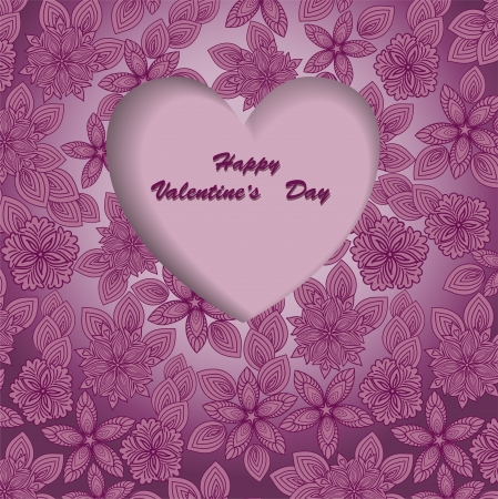 beautiful purple background for Valentine Vector