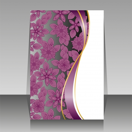 beautiful floral design for the cover of brochures Illustration