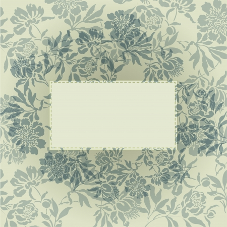 abstract background with card in a beautiful gray flowers Vector