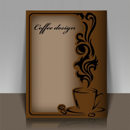 beautiful coffee frame for your design Vector