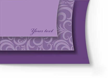 asymmetric: beautiful lilac background with asymmetric ornament