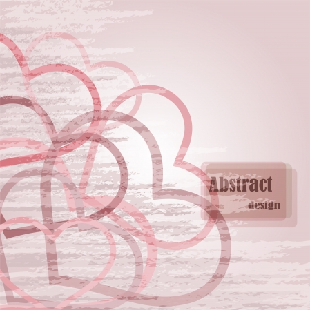 symbolics: abstract old background with romantic symbolics Illustration