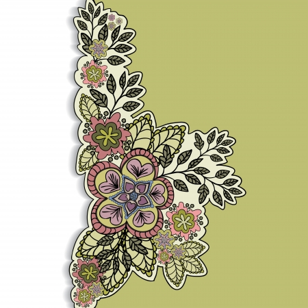 sheeted: mustard-and-white background with a beautiful bouquet of hand-drawn Illustration