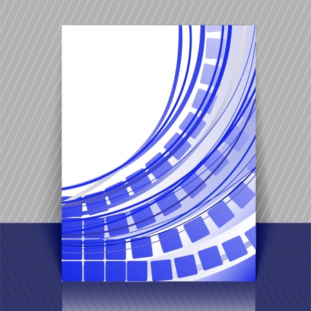 arcs: abstract blue background with squares and arcs