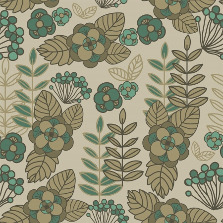 mustard: seamless floral background sand-colored