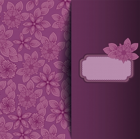 beautiful flower background for your design and the text