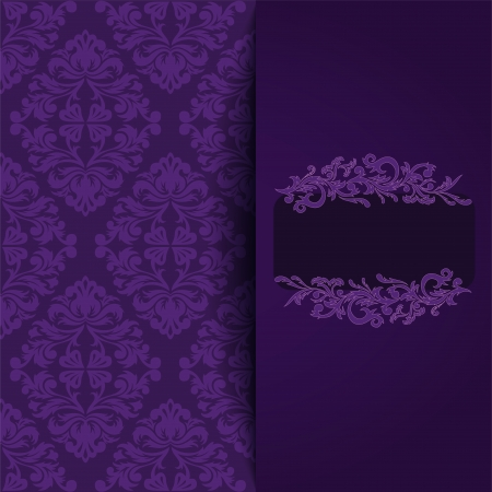 vintage background with a purple ornament and place for the text Stock Vector - 21911413