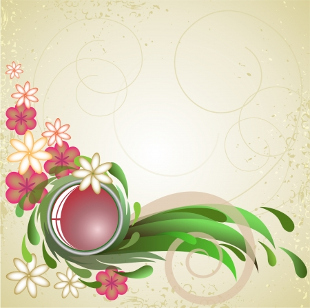 splashed: abstract splashed background with flowers Illustration
