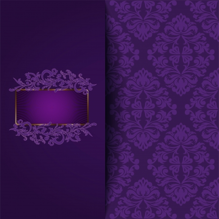 vintage background with a purple ornament and place for the text Stock Vector - 21911434
