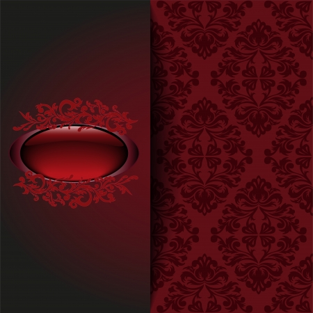 vintage background with a red ornament and place for the text Stock Vector - 21911431