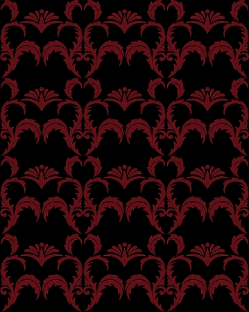 seamless red gothic background with a beautiful ornament Vector