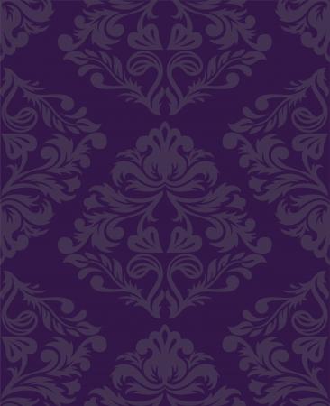 vintage beautiful seamless purple pattern Vector