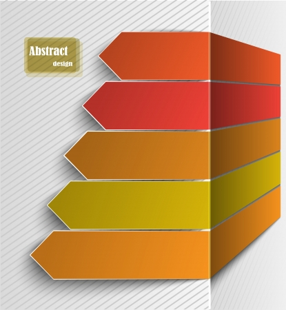 abstract gray background with the chart from arrows Vector
