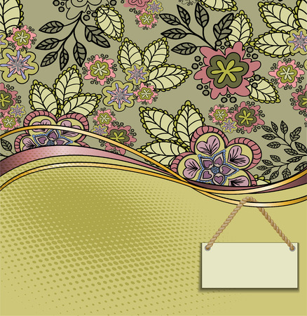sheeted: beautiful flower card with a label for your text