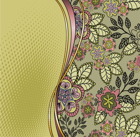 sheeted: beautiful flower card with space for your message Stock Photo