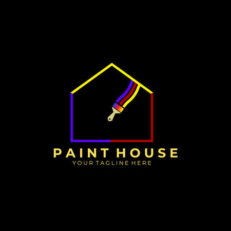 paint house logo, vector, illustration, design 写真素材 - 167131881