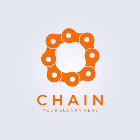 Circle chain logo vector illustration design, bicycle service, rent logo