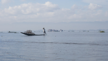 lonelyness: Inle lake fisher