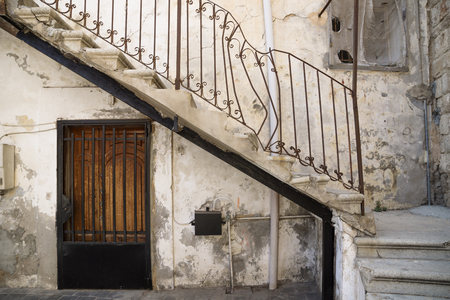 Stairs Handle: Traditional Stair Entrance With Broken Handle And Door Of  Lebanese House In Tyre