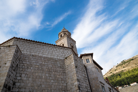 Bell tower of the Dominican Monastery in Dubrovnik, Croatia