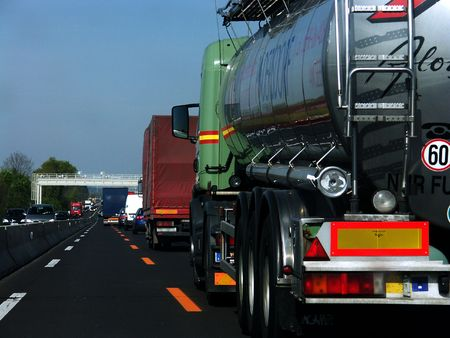 Fuel Track Stock Photo