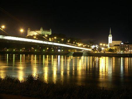 BRATISLAVA - night panorama