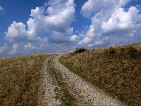 sky line: Sky line in autumn