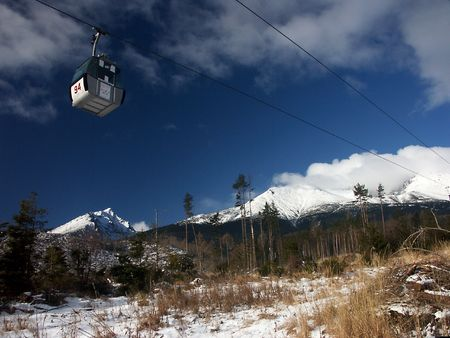 Detachable gondolas in Slovac mountains - High Tatras photo