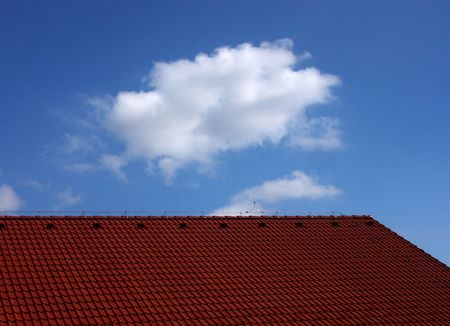 Red roof under the sky photo