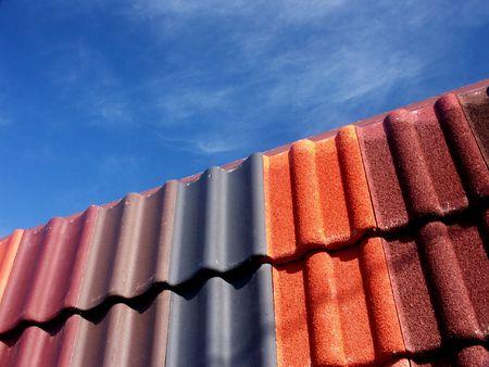 Ceramic roofing tiles texture photo