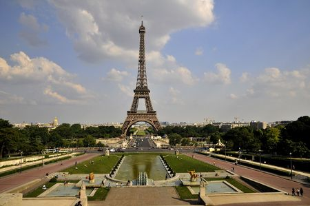 View of Eiffel tower from Trocadero Stock Photo - 3208850