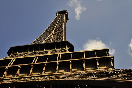 The Eiffel tower - steel structure Stock Photo - 3208862