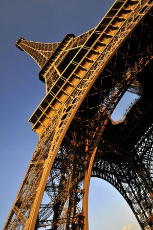 The Eiffel tower - steel structure Stock Photo - 3208870