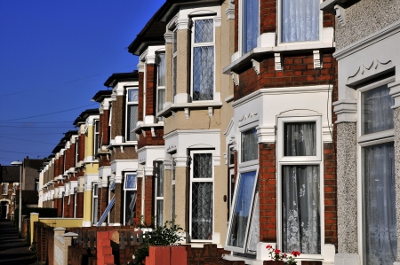 lak�hely: Old english houses -street Stock fotó