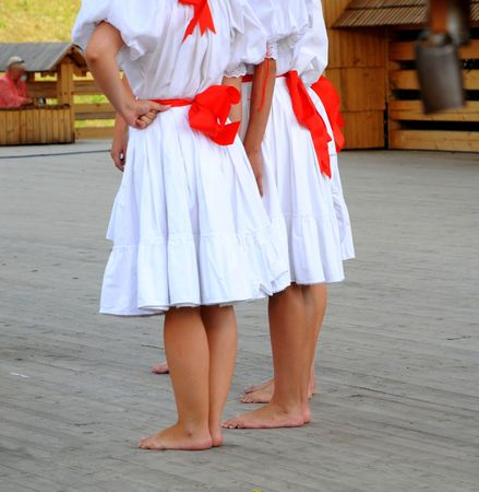 Folkloric dacer in Slovak festival