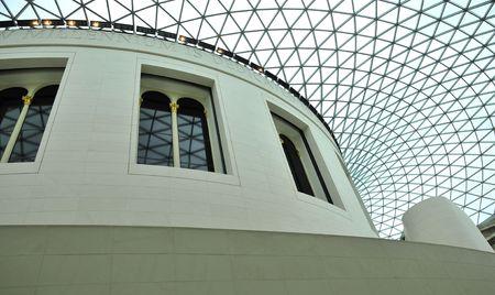 Glass Ceiling and Interior of British Museum, London, UK