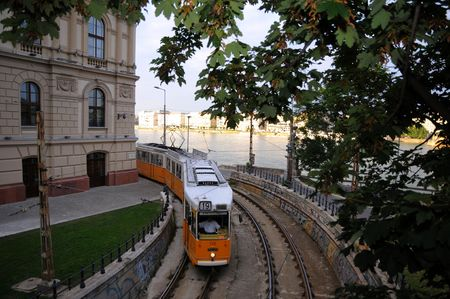 central europe: Trams running through central europe - Budapest