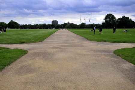 Crossing in Hyde park photo