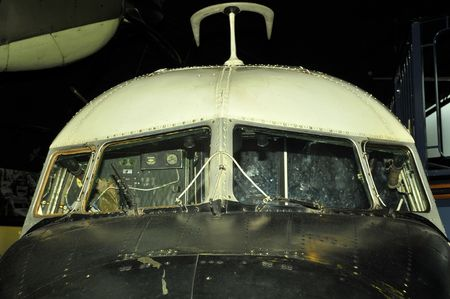 airborne vehicle: Cockpit, front cabin from old  plane