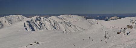 wintersport: Winter panorama in Slovac ski resort