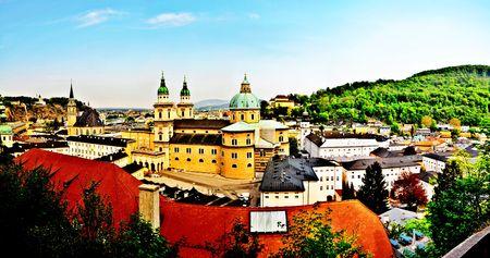 Salzburg - Colour  retro postcard
