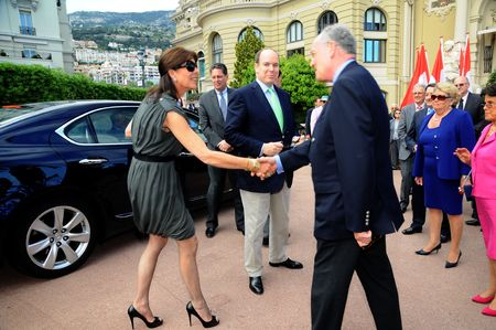 Princess Caroline of Hanover visits the 43e Concours International de Bouquets and the 13th Reveries sur les Jardins Show at the Casino Terraces on April 24, 2010 in Monte-Carlo, Monaco.