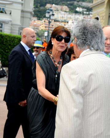 Princess Caroline of Hanover and Prince Albert II. - visits the 43e Concours International de Bouquets and the 13th Reveries sur les Jardins Show at the Casino Terraces on April 24, 2010 in Monte-Carlo, Monaco.