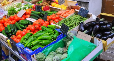 Fresh vegetables for french market place
