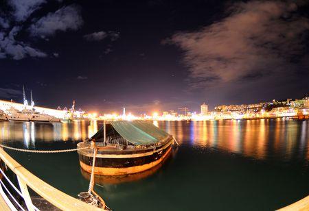 genoa: Tuh port of genoa with the lantern, symbol of the city