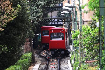 Genova - funicular with Abtsche Turnout Stock Photo