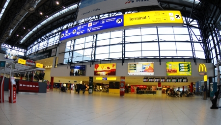 Prag Czech Juni 2010:Check-in in Prague  airport Stock Photo - 13685234