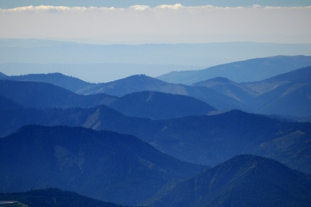 low spirited: Autumn view from mountains